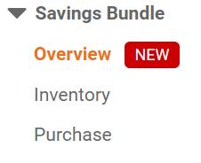 CloudFront Savings Bundle Menu